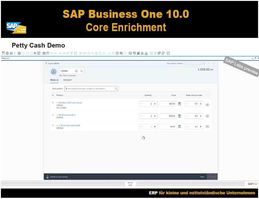 SAP Business One 10 Kassenlösung Demo