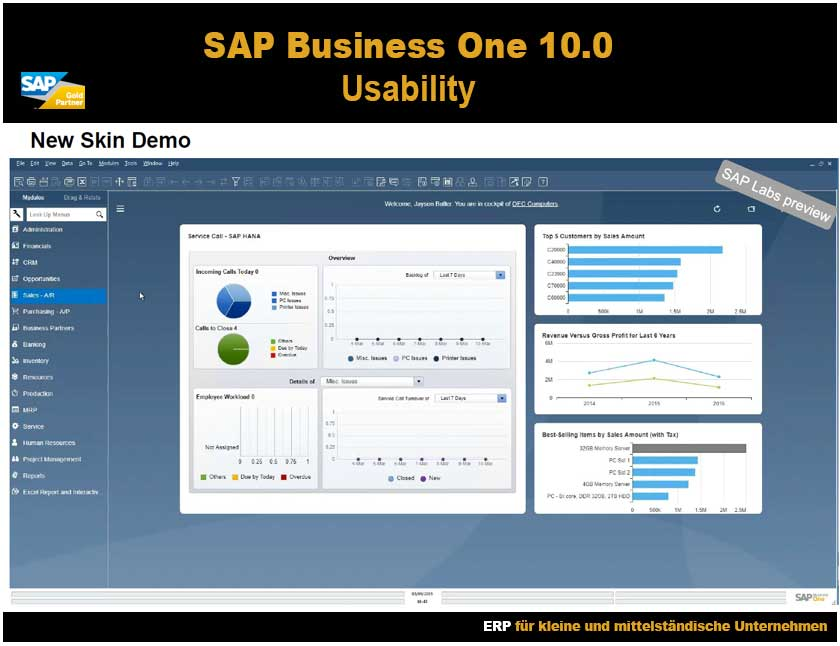 SAP Business One 10 usability New Skin Demo